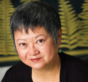 Margo Machida, an associate professor of art and art history and Asian American studies, in her office. Photo by Bruce Myren
