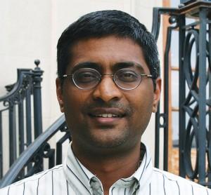 <p>Shiva Kotha, assistant professor of mechanical engineering. Photo by Christopher LaRosa</p>