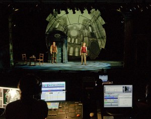 <p>A pre-production event at the Harriet S. Jorgensen Theatre for legislators and representatives of Blue Sky Studios to review the technology behind the CRT production of Galileo. Photo by Peter Morenus</p>