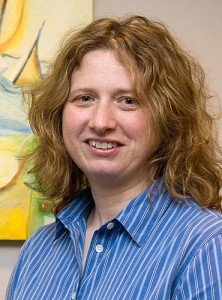 <p>Amy Gorin, assistant professor of psychology. Photo by Jessica Tommaselli</p>
