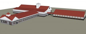 <p>Conceptual rendering of USDA's proposed animal health research facility at UConn's Depot Campus.</p>