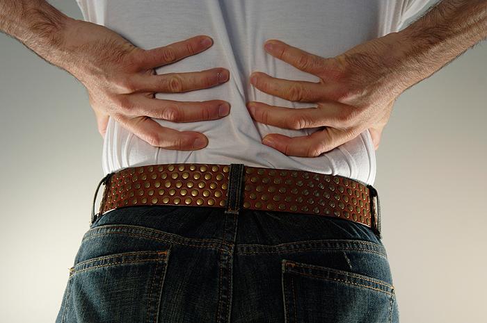 <p>Back pain</p>