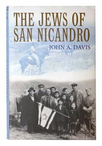 <p>A photo of a book named The Jews of San Nicandro by John A. Davis. Photo by Sean Flynn</p>