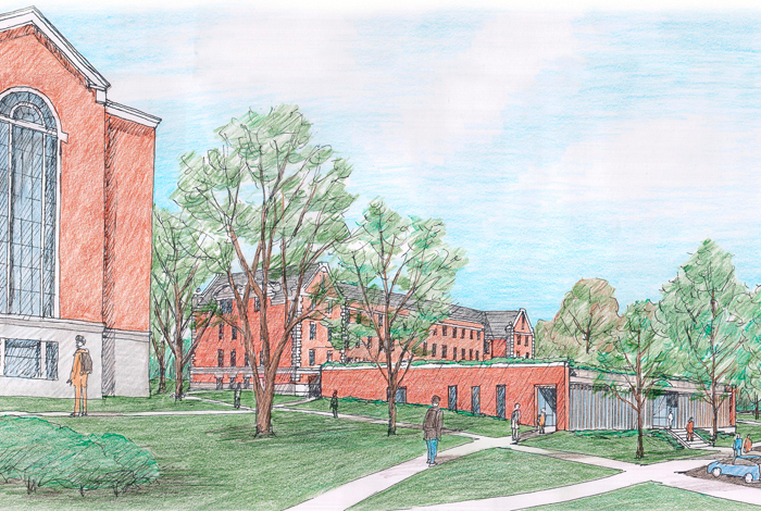 <p>Architects rendering of the Widmer Wing for the School of Nursing. Groundbreaking will be April 13, 2011. Provided by the UConn School of Nursing.</p>