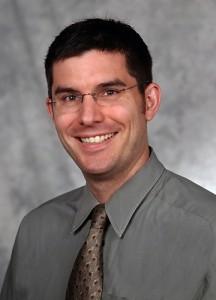 Jason W. Ryan, M.D., M.P.H., on April 21, 2006. (Janine Gelineau/UConn Health Center Photo)