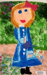 Artwork by a kindergarten student at West Hartford's Eric G. Norfeldt School.