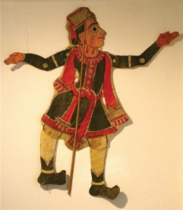 Puppet from the Epic Shadows exhibit by Andhra Pradesh, on display at UConn Health Center