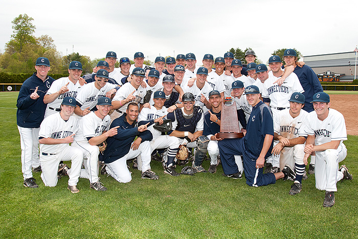 <p>The University of Connecticut baseball team won the Big East regular season title on Saturday, May 7 at J.O. Christian Field. Photo by Steve Slade</p>