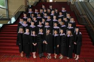 The UConn School of Dental Medicine Class of 2011 on May 15, 2011. (John Atashian Photography for UConn Health Center)