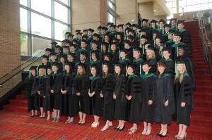 The UConn School of Medicine Class of 2011 on May 15, 2011. (John Atashian Photography for UConn Health Center)