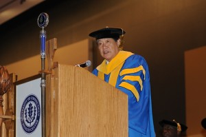 UConn Health Center Commencement speaker Henry Lee, an endowed professor and founder of the Forensic Science program at the University of New Haven.