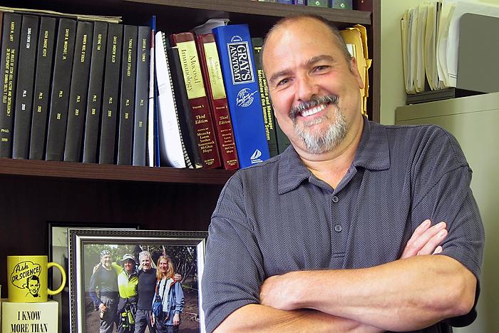Immunology Department Chairman Leo Lefranois on August 9, 2011. (Jennifer Beardsley/UConn Health Center Photo)