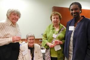 Left to Right - Dr. Mary Jane Osborn, Dr. Marta Lepow, Dr. Naomi Rothfield and Dr. Marja Hurley. (Jennifer Huber/UConn Foundation Photo)