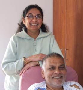 Ramesh Nar, pictured with his wife, Labhu, underwent an emergency angioplasty a record 21 minutes after paramedics brought him to the UConn Health Center Emergency Department Nov. 7.