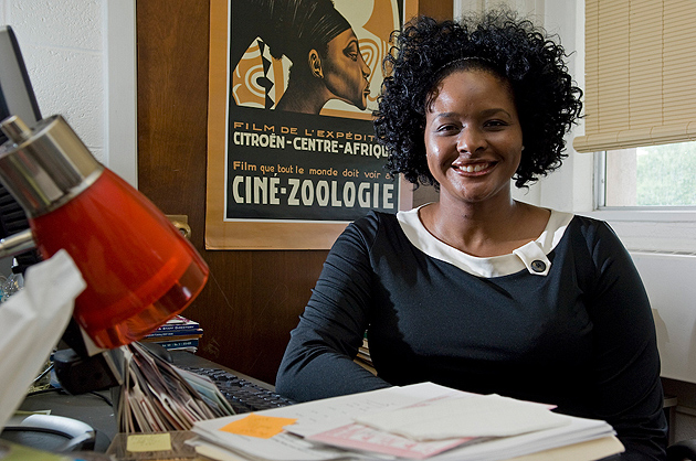 """Shayla C. Nunnally, associate professor of political science, has written a book """"In Whom Do We Trust?: Black Americans, (Dis) Trust, and the Vestiges of Race"""" which will be released next year by New York University Press. (Daniel Buttrey/UConn Photo)"""