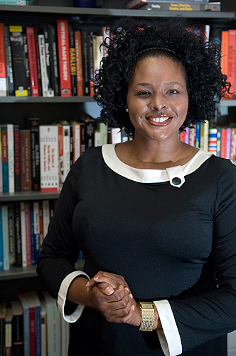 Shayla Nunnally, associate professor of political science, has written a book 'Trust in Black America: Race, Discrimination, and Politics.' (Daniel Buttrey/UConn Photo)