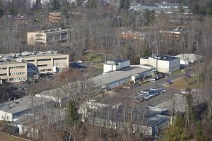 The future site of JAX Genomic Medicine on the lower campus of the Health Center. . (Tina Encarnacion/UConn Health Center Photo)