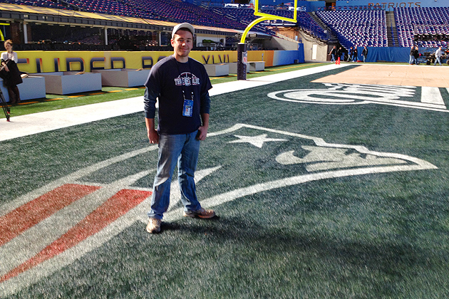 Mike Sargent '12 (CANR) a student in UConn's turfgrass program, is this year's winner of the Toro Super Bowl Sports Training Program. (Photo courtesy of Toro)