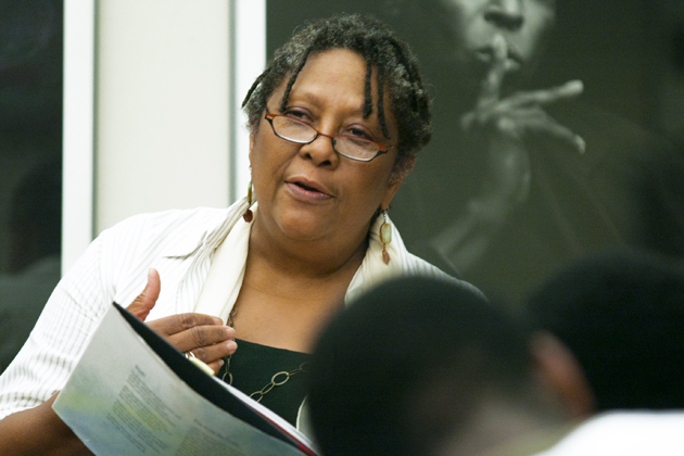 Marilyn Nelson at the H. Fred Simons African American Cultural Center (Sean Flynn/UConn Photo)