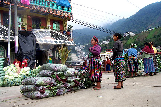 The town of Zunil is the location of one of Central America's most important wholesale markets. (Rachael Shenyo/UConn Photo)