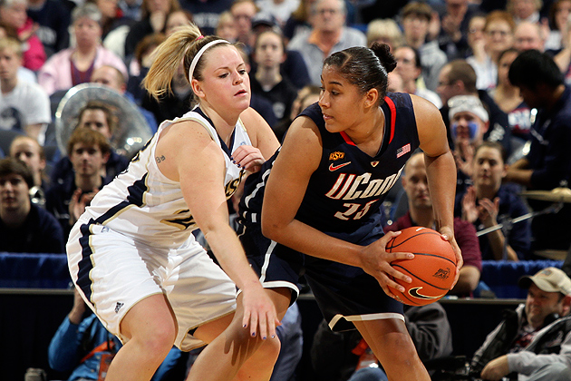 Kaleena Mosqueda-Lewis '15 (CLAS) was named the Most Outstanding Player of the 2012 Big East Women's Basketball Tournament. (Bob Stowell '70 (CLAS)/ Big East)