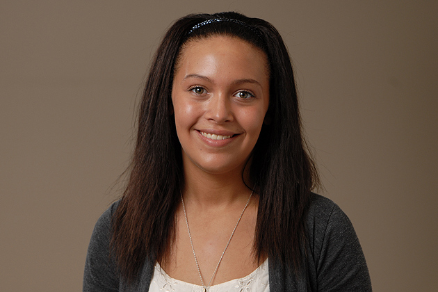 Alexandra Raleigh '12 (CLAS) on April 17, 2012. (Peter Morenus for UConn)