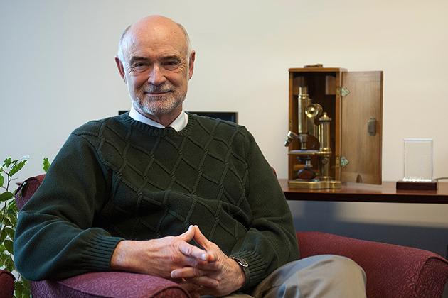 David Benson, professor of molecular and cell biology (Daniel Buttrey/UConn Photo)