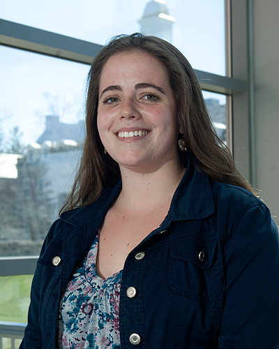 Anna Green is a recipient of the 2012 Barry M. Goldwater scholarship for outstanding young scientists. (Daniel Buttrey/UConn Photo)