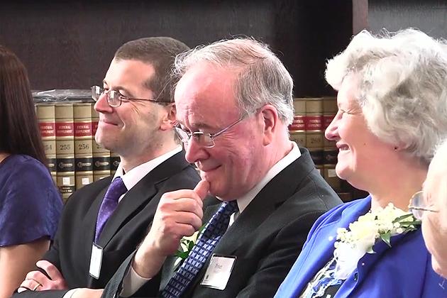 Provost Peter Nicholls' retirement party