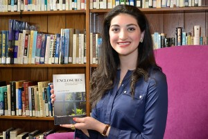 UConn medical student Shirin Karimi has written a book, Enclosures: Reflections from the Prison Cell and the Hospital Bed, comparing illness and incarceration. on May 21, 2012. (Tina Encarnacion/UConn Health Center Photo)