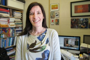 Fabiana Cardetti of mathematics received a Teaching Promise award from the AAUP (Christine Buckley/UConn Photo)