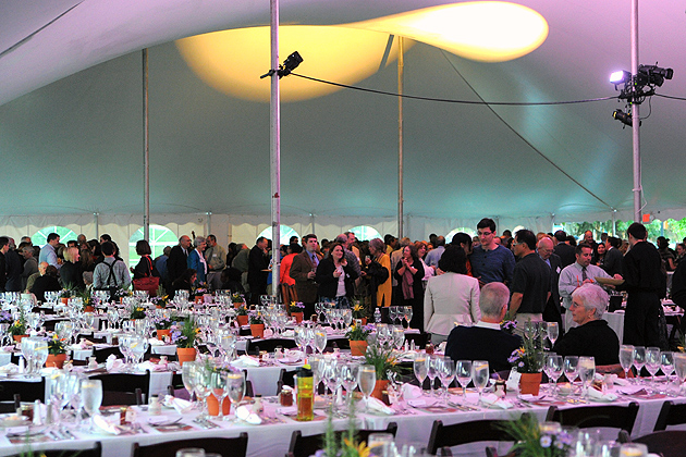 The College of Agriculture and Natural Resources celebrated the 150th anniversary of the Morrill Act with a gala 'farm-to-table' event on Sept. 21. (Max Sinton '15 (CANR)/UConn Photo)