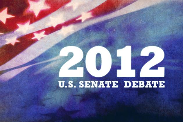 2012 U.S. Senate Debate graphic.