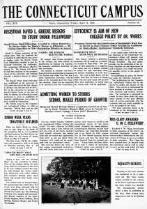 Student newspaper digitized cover from April 11, 1930.