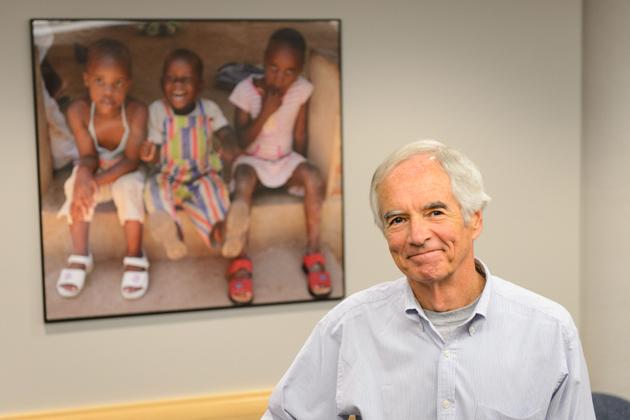 Rick Gibbons, professor of psychology on Sept. 28, 2012. (Peter Morenus/UConn Photo)