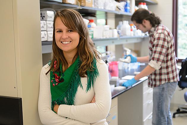 Marta Chlus '14 (ENG) was an intern at Symbody, a technology incubator program participant in Farmington. (Peter Morenus/UConn Photo)
