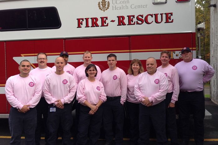 UConn Health Center Firefighters Go Pink