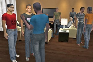 A screenshot from one of Christensen's interactive video games.