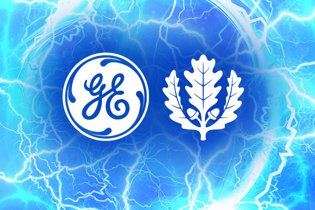 GE Logo with UCONN Leaf