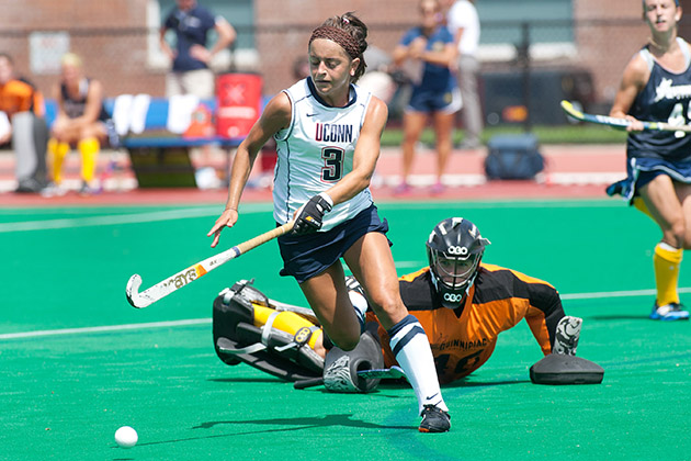 Forward Marie Elena Bolles '14 (NUR) was named the Big East Field Hockey Offensive Player of the Year by coaches in the conference. (Steve Slade '89 (SFA) for UConn)