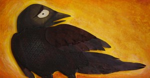 """The Crow - illustration art fo rthe book """"The Crow"""" by Alison Paul"""