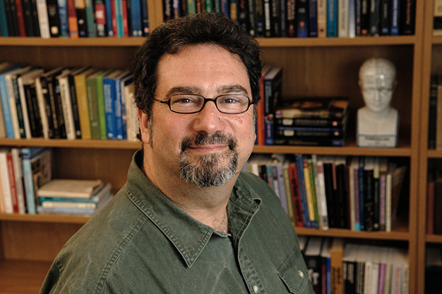 John Salamone, professor of psychology, at his office. (Peter Morenus/UConn Photo)