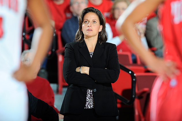 As head coach at the University of Hartford, Rizzotti hopes to create the same kinds of memories for her players that she has from her years as a Husky. (Steve McLaughlin/University of Hartford)