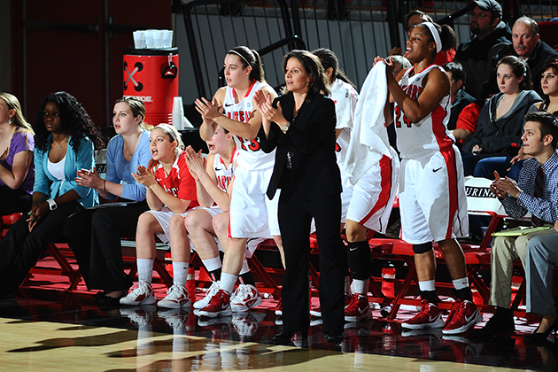Rizzotti is now in her 13th year as head women's basketball coach at the University of Hartford. (Steve McLaughlin/University of Hartford)