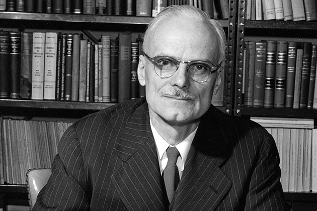 Professor Albert Waugh (Archives and Special Collections Photo, UConn Libraries)