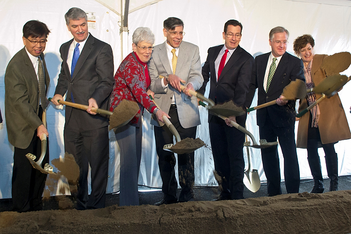Groundbreaking ceremony for The Jackson Laboratory on January 17, 2013.