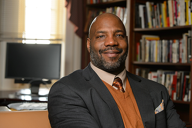 William Jelani Cobb, associate professor of history and director of the Institute for African American Studies, comes to UConn from Rutgers. (Peter Morenus/UConn Photo)