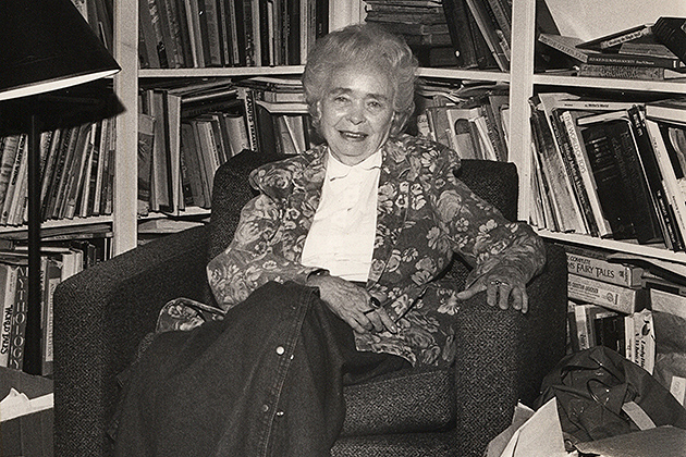 Francelia Butler in her office at UConn sometime in the mid-1980s.(Photo courtesy of Francelia Butler Papers, University Archives & Special Collections)