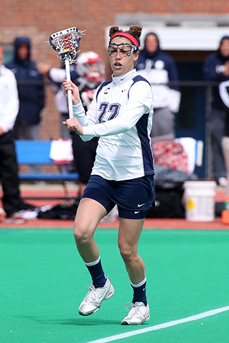 Morgan O'Reilly '13 (CLAS) has scored 44 points on 20 goals and 15 assists in her senior season.(Steve Slade'89 (SFA)/for UConn)