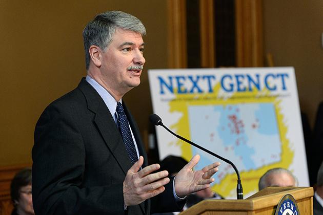 Donald Williams, state senate president pro tempore, speaks at the Next Generation Connecticut event. (Peter Morenus/UConn Photo)